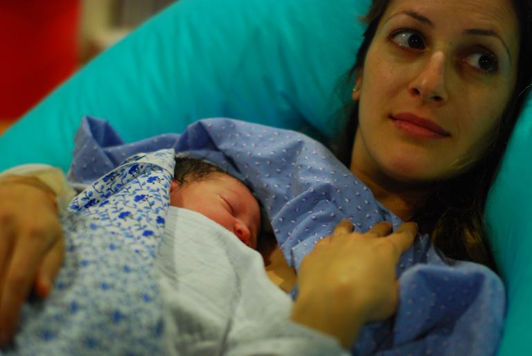 Palestinian mother and baby (c) Jessica Alderman