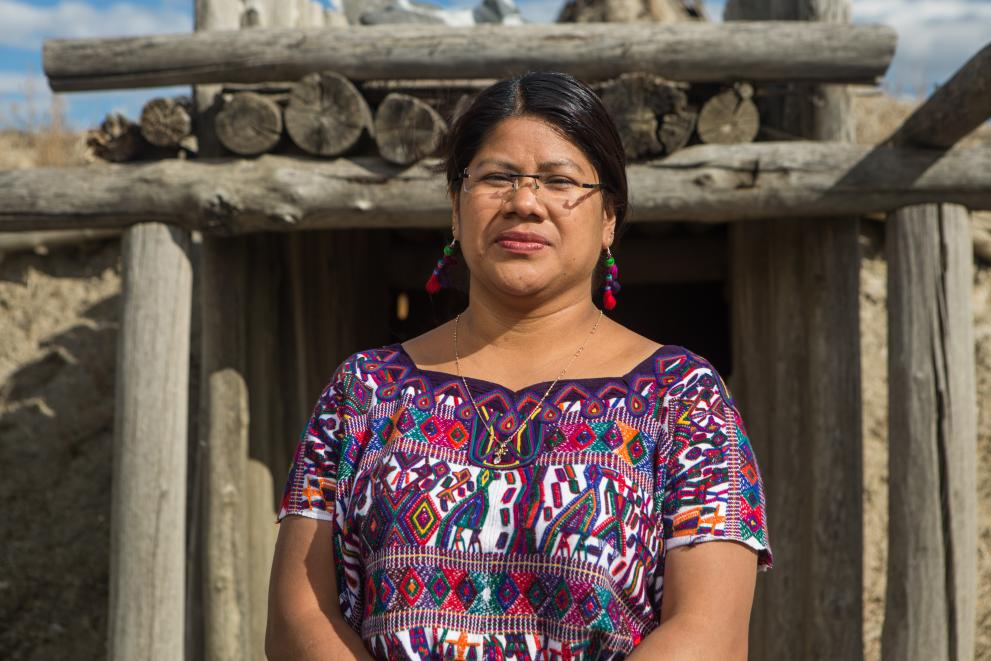 Ana Ceto, our partner organization MUIXIL in Guatemala, knows firsthand the devastation that hydroelectric dams create and how communities must organize to respond.  © Ayse Gursoz