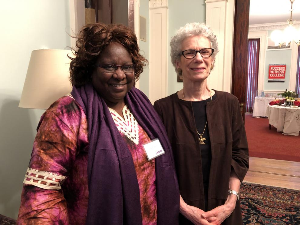 Our partner, Lucy Mulenkei, and MADRE board member Anne Hess. ©