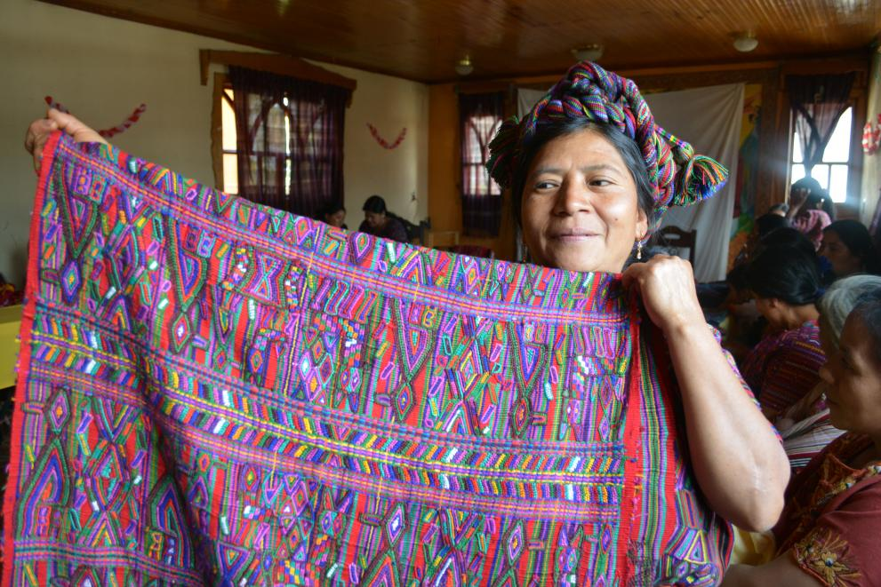 Indigenous women of Guatemala weave scarves to both raise income and preserve Ixil heritage