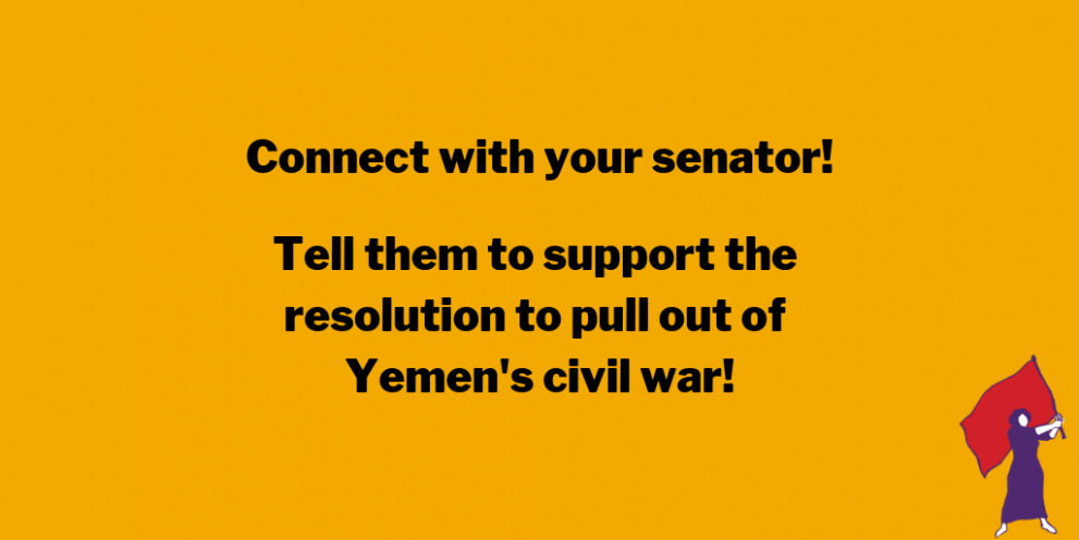 connect with your senator! tell them to support the resolution to pull out of the war