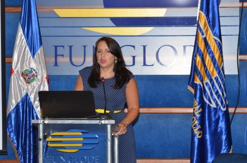 Natasha Lycia Bannan speaking at the conference calling to end violence against women
