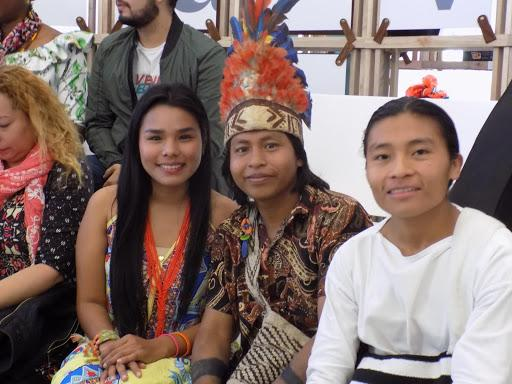 Young Indigenous women leaders pose for a photo.