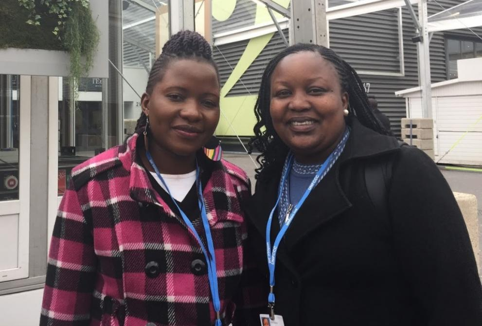 Cynthia Wechabe and Edna Kaptoyo at the United Nations climate talks