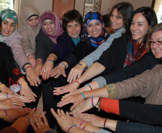 Yifat and members of Midwives for Peace
