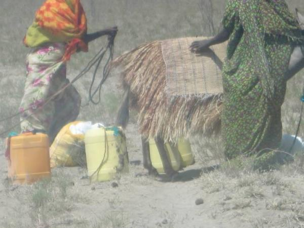 With water so scarce, women and girls must walk over 50 kilometers to fetch water for their families.