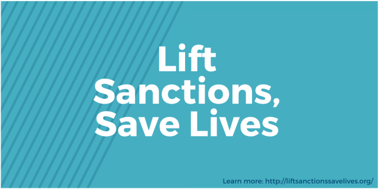 Graphic Reads: Life Sanctions, Save Lives. Learn more at liftsanctionssavelives.org
